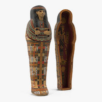 egyptian sarcophagus gold 3D model
