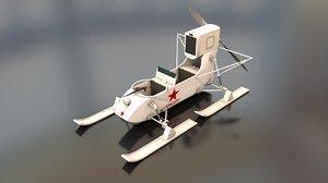 3D soviet aerosan rf8 military