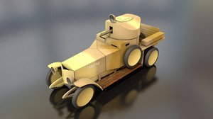 3D mk1 military armoured car