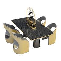 3D restaurant furniture model