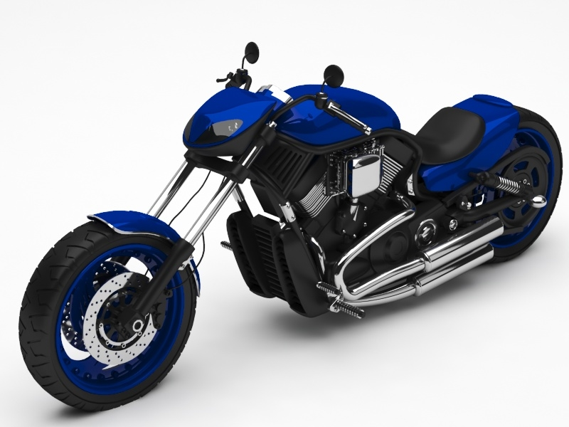 3D motorcycle cycle