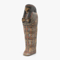 3D model ancient egyptian coffin