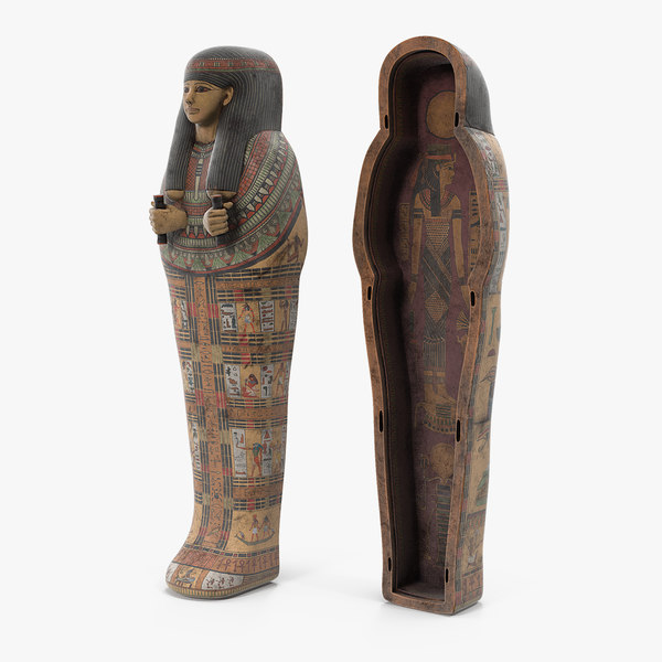 ancient egyptian sarcophagus model