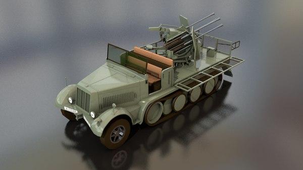 3D sdkfz 71 sonderkraftfahrzeug military vehicle