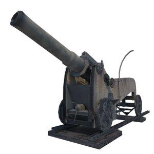 italian howitzer obice 3D model