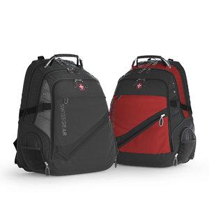 3D swissgear backpack bags model