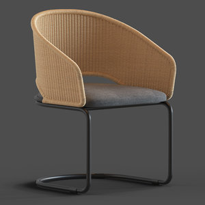 globewest weaver cantilever chair 3D model