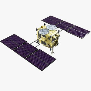 3D hayabusa 2 space spacecraft model