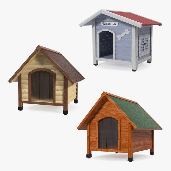 3D dog houses model