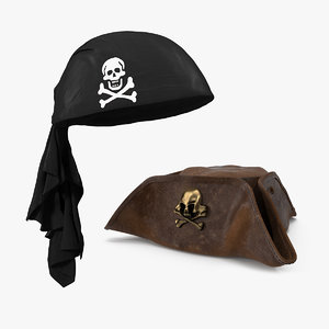 pirate hats 3D model