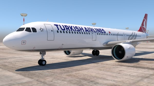 3D a321 321 airlines