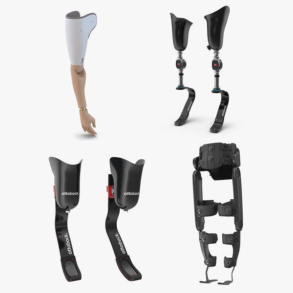 3D prosthetic arm legs