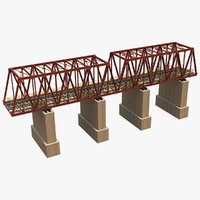 bridge rail railway 3D model
