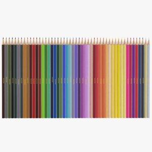 3D real color pencils