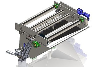 3D conveyor belt washer