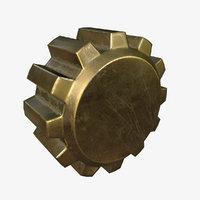 3D model gear pbr