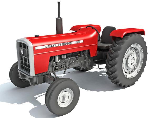 massey ferguson tractor 3D model