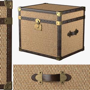 3D mayfair rattan table rh