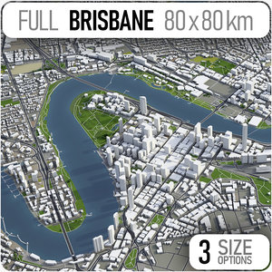 3D brisbane city area