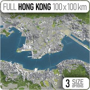 hong kong 3D model