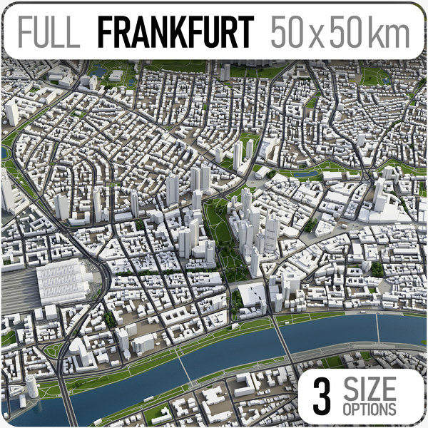 3D frankfurt germany area