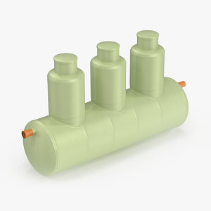 plastic septic tank model