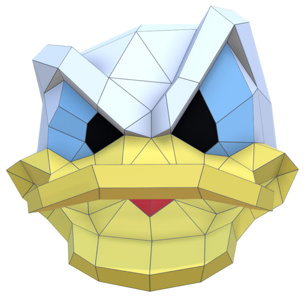 3D trophy donald duck disney