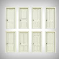 3D model interior door architectural
