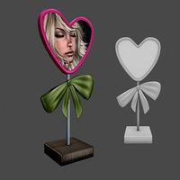 frame heart 3D model
