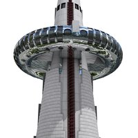 3D observation tower model