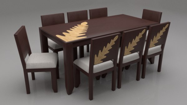 zabel solid wood 8 3D