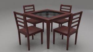 3D disa solid wood 4