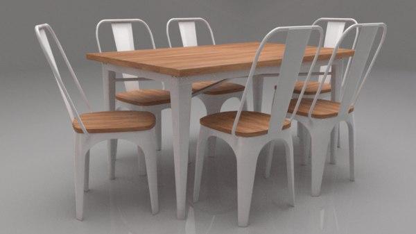 novo seater dining set 3D model