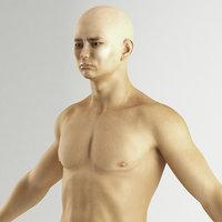 3D rigged asian man model