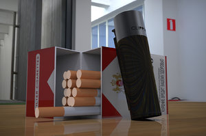 3D cigarette pack