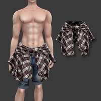 male hip shirt model