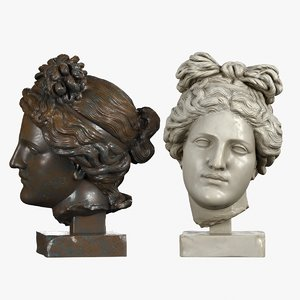 head sculpture aphrodite 3d model