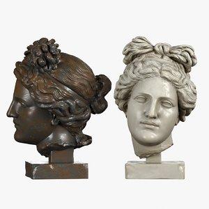 head sculpture aphrodite 3d model