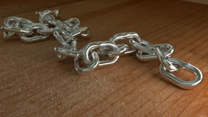 metal chain 3D model