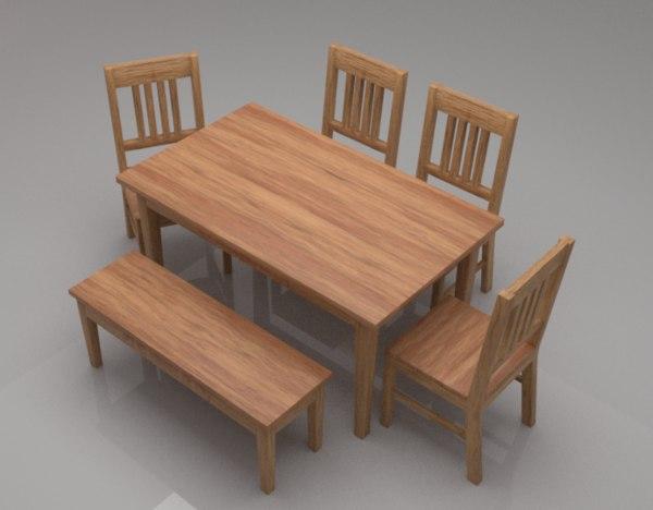 avilys solid wood 6 3D model