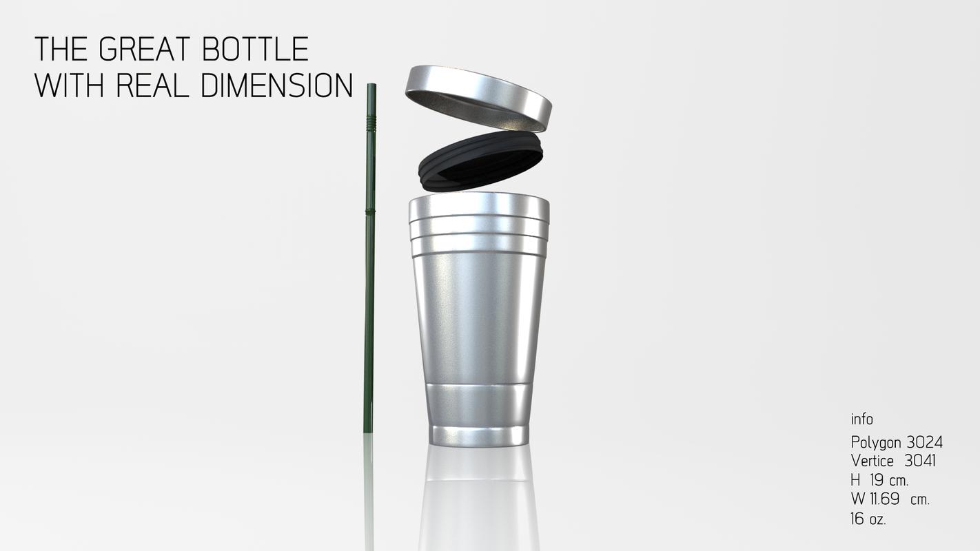 mug stainless 3D model