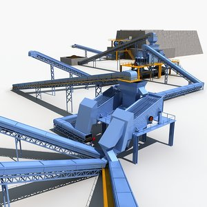 3D model mining machinery
