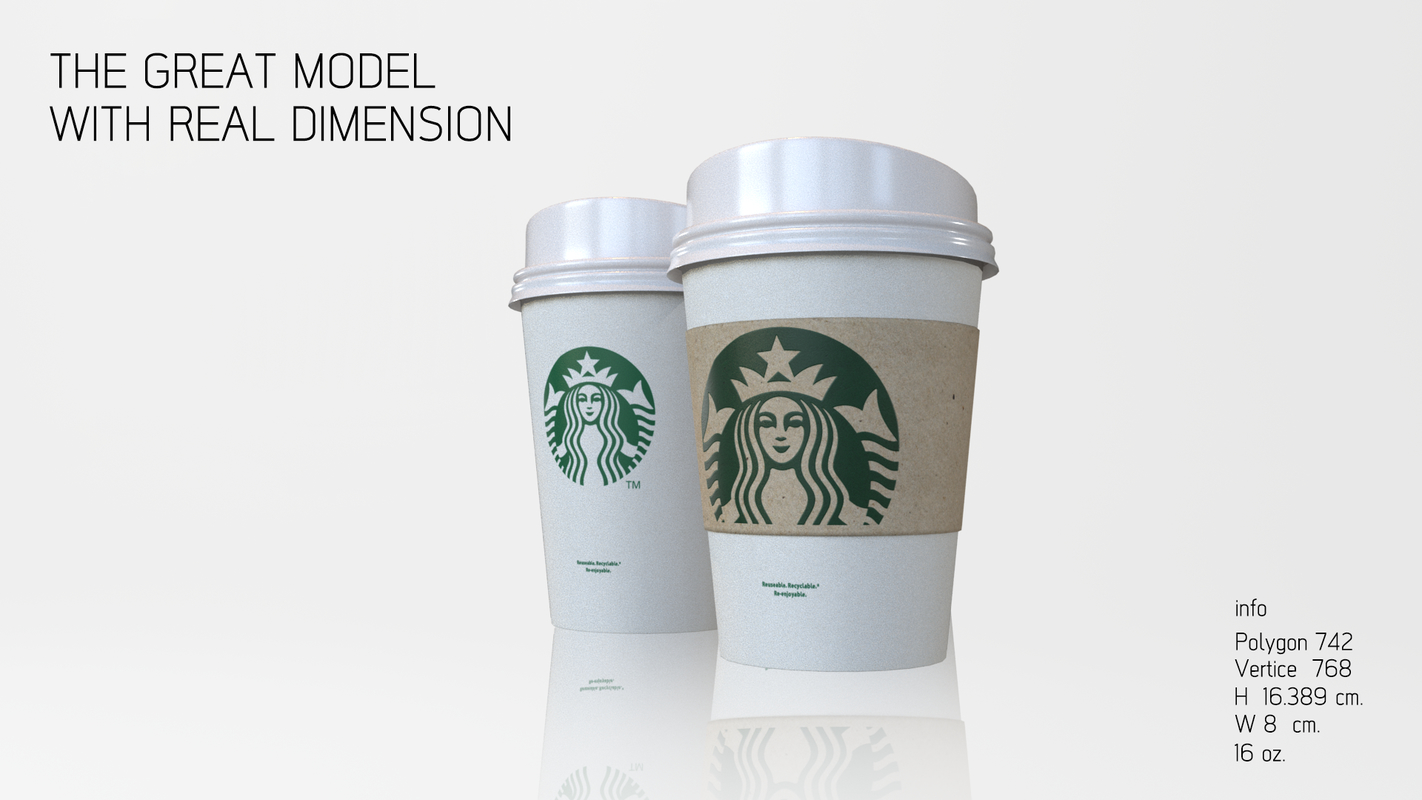 3D cup realistic real
