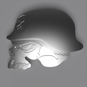 3D metal mulisha skull model