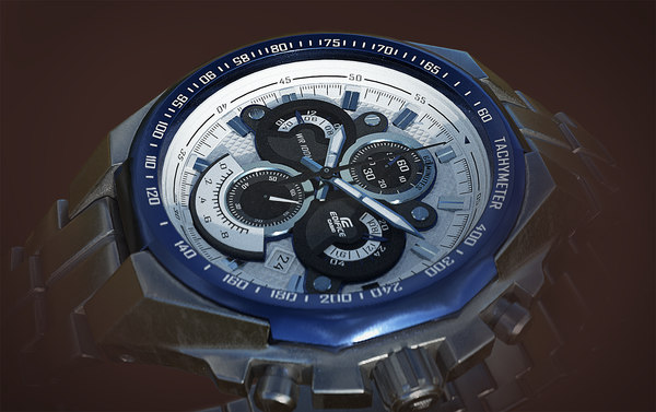3D model casio edifice 554 watch