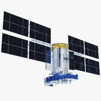 3D model glonass-m glonass satellite