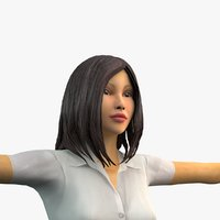 3D people animation rigging