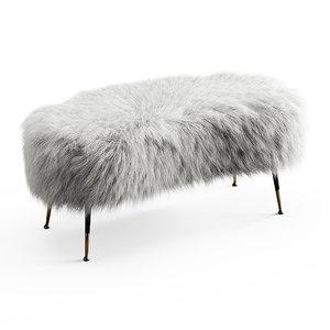 wool white fauxfur gio 3D