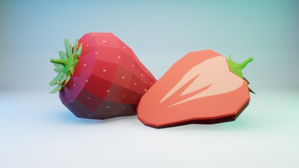 3D model strawberry berry