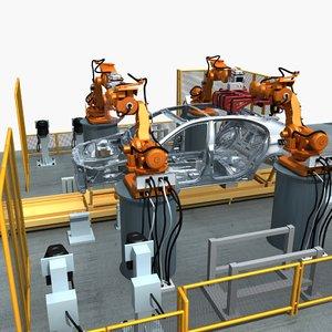 line car welding model